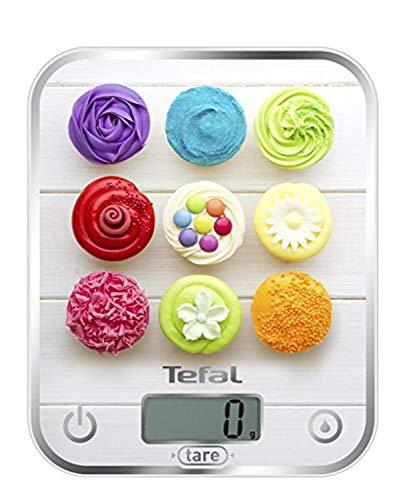 Tefal Optiss Mesa Rectángulo Báscula electrónica de cocina Multicolor - Báscula de cocina (Báscula electrónica de cocina, 5 kg, 1 g, Multicolor, Vidrio, Mesa)
