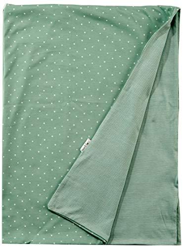 Noppies Baby-Unisex U Cradle Blanket Jersey Nusco 75x100 cm Tragbare Decke, Grey Mint C175