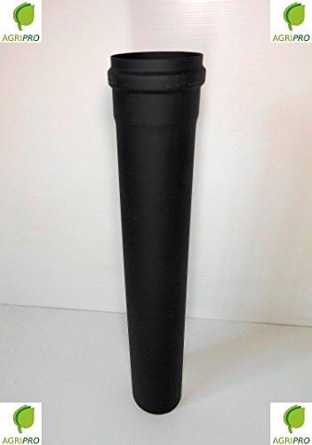 Agripro - Tuyau d'évacuation de fumées - Diamètre 80mm - Longueur 1 m- Pour poêle à granulés