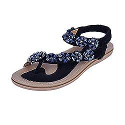 Black Thong Flat Sandals Comfortable Sling Back Slip on