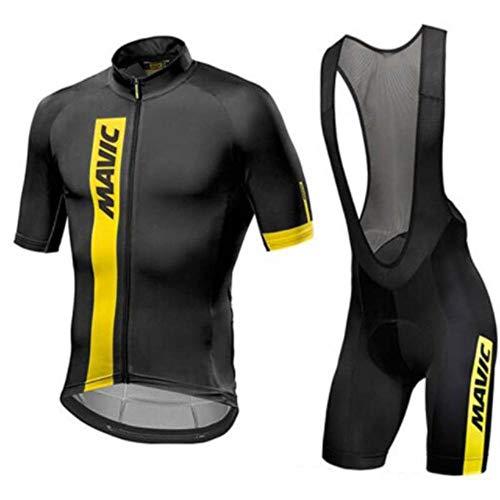 Jersey De Ciclismo para Hombre + Pantalón Corto Acolchado con Gel 3D Conjunto Transpirable Jerseys De Ciclismo De Secado Rápido Conjunto Mountain Bike Road Sportswear a-XXXL