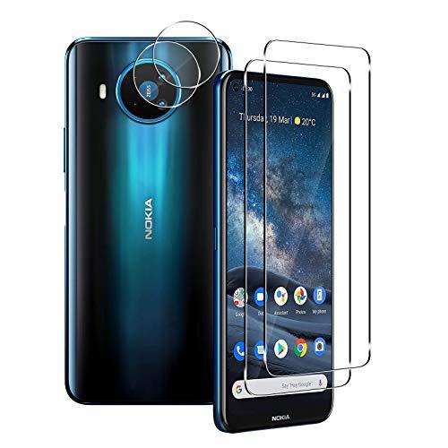 Aerku Bildschirmschutzfolie für Nokia 8.3 5G[2Stück] + Kamera Panzerglas Schutzfolie [2Stück], 9H HD Anti-Kratzer Folie Ultra Glatte Film Bildschirmschutzfolie-Transparent