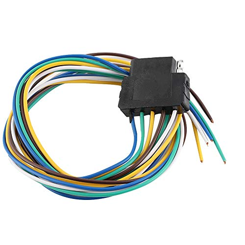 Gorgeri 12V Trailer Plug Adapter, 5Pin Trailer verlengkabel stopcontact adapter stekkerverbinding