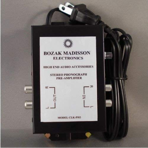 Great Features Of Bozak Madisson Phono Preamp Preamplifier, Turntable Amplifier Pre-Amp