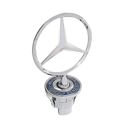 HAOXUAN Logotipo de Star Badge Hood, Metal + Cromado Emblema de Adorno de capó Delantero de Coche Emblema de águila cromada Logotipo 3D para Me-RC-ed-es Benz N E W Class,No Word
