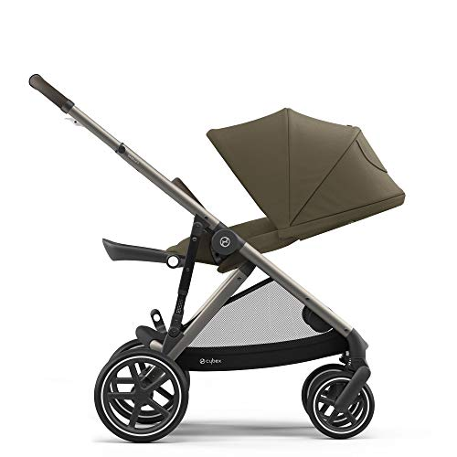 Cybex Gazelle S Stroller Modular Double Stroller for Infant and Toddler Includes Detachable Shopping Basket Over 20+ Configurations Folds Flat for Easy Storage, Classic Beige
