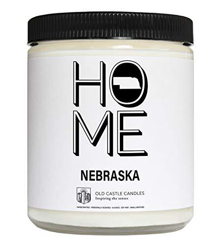 Home Sweet Home Nebraska Candle, Homesick Gift, 8 Ounce