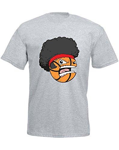 Basket Head - Camiseta de manga corta para hombre, color gris