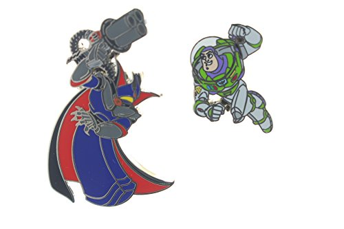Disney Buzz and Zurg From Toy Story 2 Pin Set