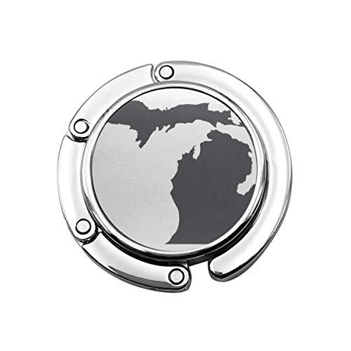 Gancho para Bolso Plegable para Bolso, Gancho para Bolso para Mesa de Coche, Almacenamiento de Bolso Plegable Simple Michigan Gray Stat