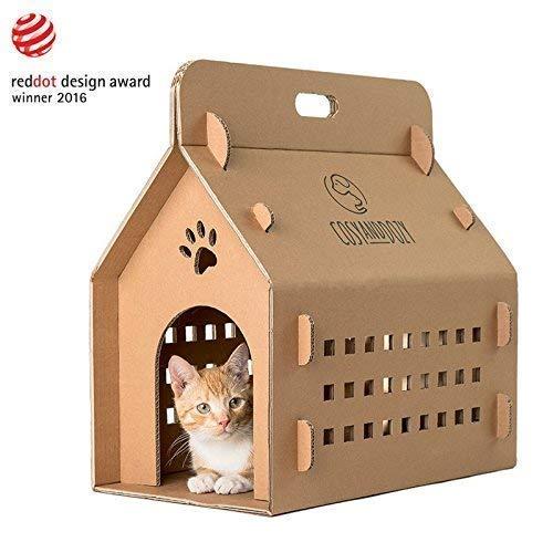Katzenhaus | Katzen Kratzbrett Pappe | Katzenhaus aus Wellpappe | Pappe | Karton | Katzen | Katzenliege