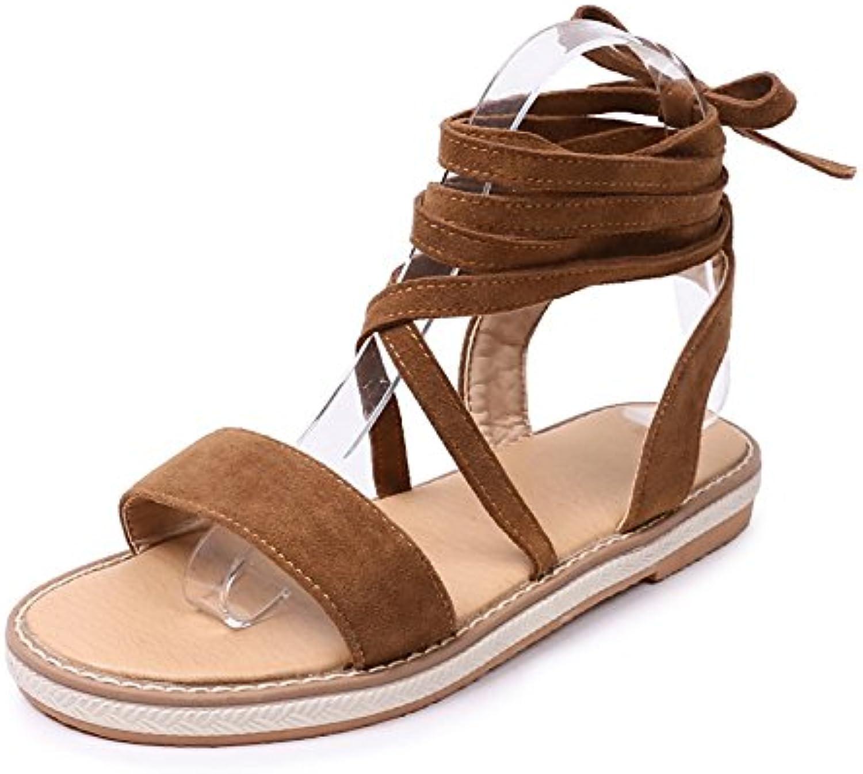 Women's shoes Leatherette Summer Comfort Sandals Flat Heel Open Toe for Outdoor Black Beige Camel