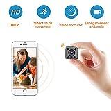 Mini Caméra Espion WiFi à Distance, Caméra Surveillance Portable sans Fil avec...