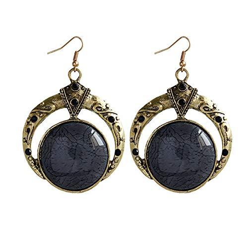 Women Bohemian Artificial Ethnic Style Retro Earrings Hanging Earrings for Womens Alloy Earrings Piercing Hypoallergenic Fashion Charming