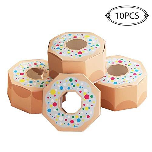 geschenkdoos LKU 10st zeshoekige donut partij papieren bonbondoos baby shower geschenkdoos donut thema verjaardagsfeestje decoraties, CHA