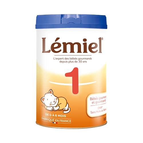 LEMIEL - Lait 1er âge en poudre de 0 à 6 mois* 800g - Fabriqué en France - sans huile de palme