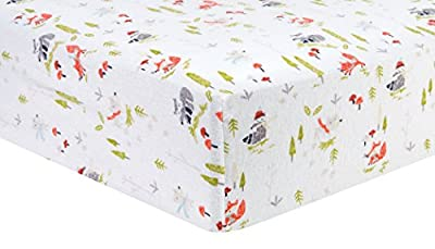 Trend Lab 100% Cotton Winter Woods Deluxe Flannel Fitted Crib Sheet