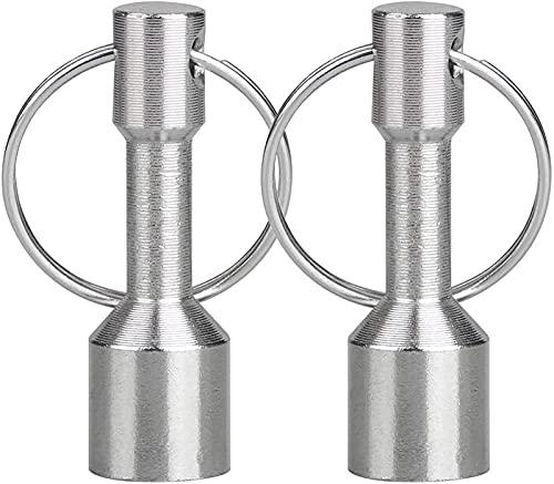 Aditya Portachiavi Magnetico A 2 Pezzi, Portachiavi In metallo Resistente Per Donna Uomo, Supporto Magnetico Con Anello Diviso Magnete Di Prova Per Gioielli Riciclatore Di Metallo Collezionista Di H