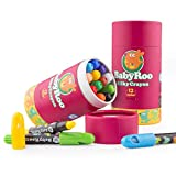 brightsen Lápices de colores lavables para niños pequeños no tóxicos lápiz de color lamer torcidos de gel crayones barril herramientas de arte regalo para bebés y niños