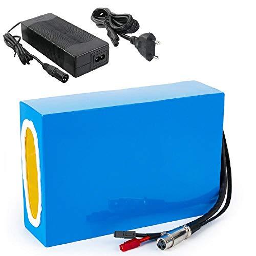 Batería de bicicleta eléctrica de iones de litio de 48 V 20 Ah para 1800 W/1500 W/1200 W/1000 W/750 W/500 W - E Scooter/Go Kart batería de iones de litio Pack-48 V 20 ah 30 A (BMS)