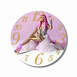 Nicki Minaj 11.8'' Handmade Wall Clock - Get unique décor for home or office – Best gift ideas for kids, friends, parents and your soul mates