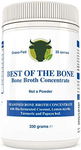 BONE BROTH Premium-Rindfleischknochenbrühe-Konzentrat Kokosnuss-Geschmack - 100% aus AU-Gras, Weidevieh - Gesündere Haut und Nägel, gesunde Verdauung - Knochenbrühe Kollagen Bone Broth