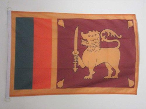 AZ FLAG Flagge SRI Lanka 150x90cm - DEMOKRATISCHE SOZIALISTISCHE Republik SRI Lanka Fahne 90 x 150 cm Aussenverwendung - flaggen Top Qualität
