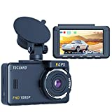 TOGUARD Dash Cam Built-in GPS 1080P Full HD Dash Camera for Cars Recorder 3''...