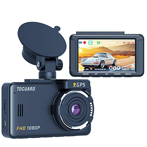 TOGUARD Dash Cam Built-in GPS 1080P Full HD Dash Camera for Cars Recorder 3