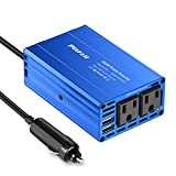 300W Power Inverter 12V DC to 110V AC Car Plug Adapter Outlet Converter with 4.2A Dual USB AC car Charger for Laptop Computer