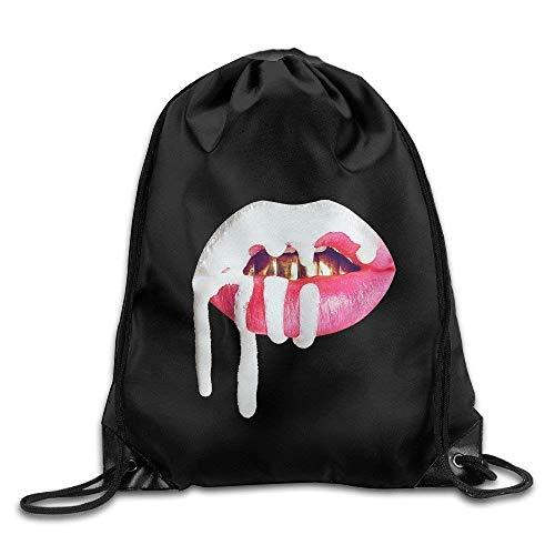 Dutars Gym Kylie Jenner Lip Kit Logo Kordelzug Rucksack Tasche