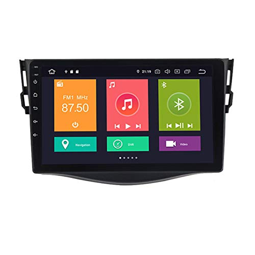 ADMLZQQ Doble DIN Autoradio Navegación GPS Android 10 para Toyota RAV4 2006-2012 5G FM RDS Radio Aux/CAM/DVR Soporte de Entrada Carplay Reposacabezas Monitor/Modo de Pantalla Dividida,Px6,4+64