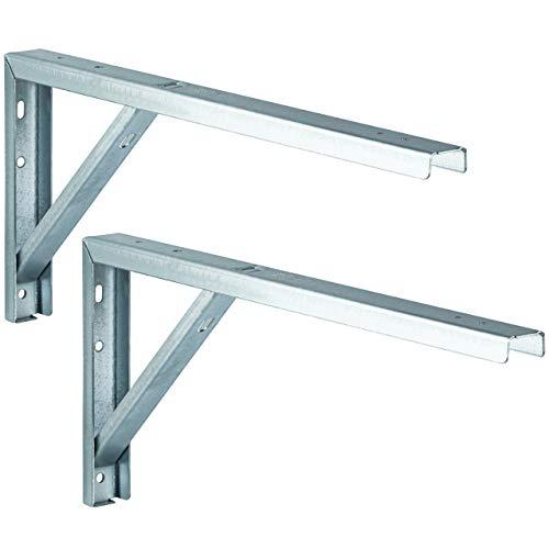 Virole gedotec® Rallonge de table Table console – 300 x 50 x 180 mm – Console de support en métal | Étagère Angle en acier galvanisé | Produit de qualité pour votre intérieur