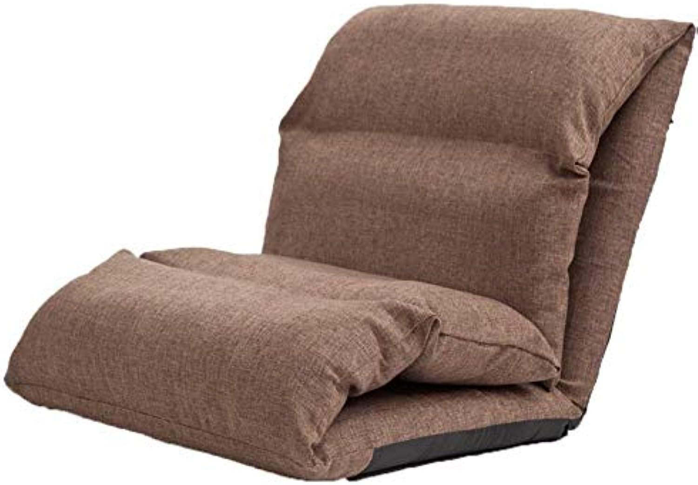 Qing MEI- Lazy Sofa Faltbarer Boden Stuhl Dickes Bett Rücken Sofa Single Lehnstuhl Gewicht 180kg (Farbe   B)