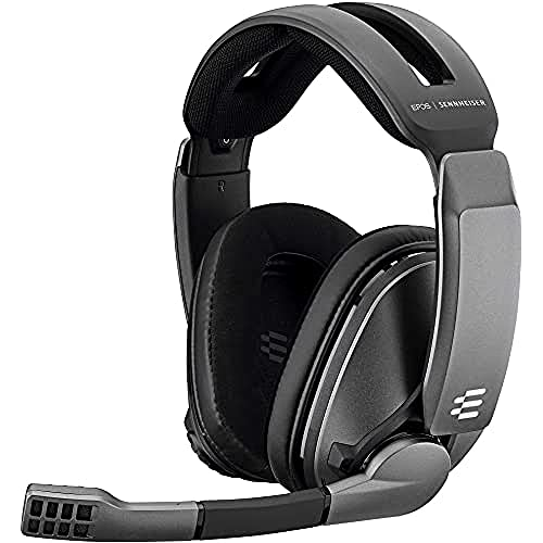 EPOS | Sennheiser GSP 370 Wireless Gaming Headset Kopfhörer, 100 h Akku, Verzögerungsfreies Geräuschunterdrückendes Mikrofon Flip-to-Mute, Ohrpolster Digitaler 7.1-Surround-Sound für PC Mac PS5 & PS4