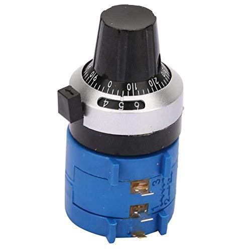 Juego de potenciómetros, 3590S-2-104L, giratorio bobinado con dial de conteo de 10 vueltas, alta precisión, 100 K ohmios, 2 W para regulación de velocidad del inversor