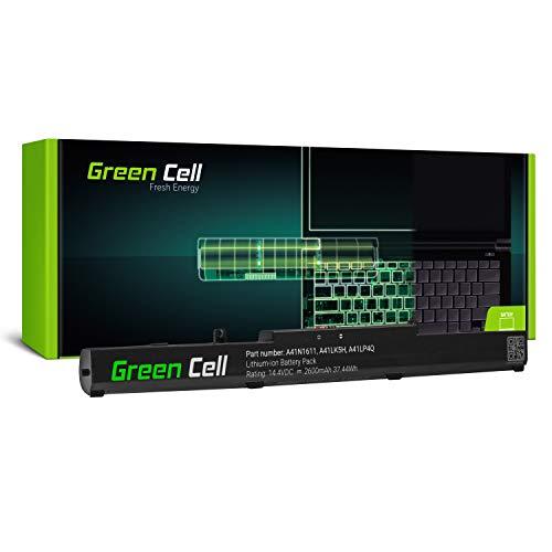 Green Cell® Standard Serie Batería para ASUS ROG Strix GL553VD-DM064T GL553VD-DM065T GL553VD-DM067T Portátil (2600mAh 14.4V Negro)