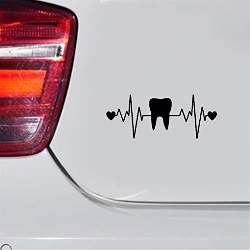 Zahn-Herzschlag-Rettungsleine-Zahn-Aufkleber Zahnarzt- Auto Aufkleber Autodekoration