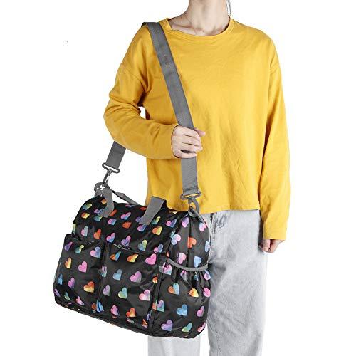 Bolso de gran capacidad, bolso multifuncional de un solo hombro Bolso de mujer Momia para mujer para ir de compras para viajar de vacaciones(Mica negra)