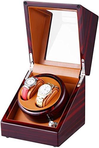 YAYY Epitope 5 Automatikgehäuse mit Automatikaufzug und Dual-Mode-Funktion Aufbewahrungsbox für Sandelholz-Klaviermalerei sehr leise-Sandelholz Rot + Braun(Upgrade)