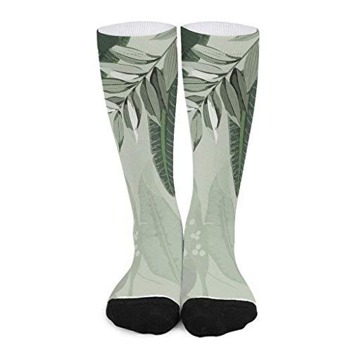 Patrón floral de longitud media pantorrilla calcetín ajuste para hombres y mujeres patrón de estilo europeo suave y cómodo de alta calidad, el mejor regalo para oficina a amigo.