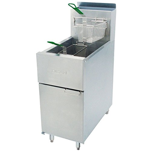 Frymaster Dean SR142G Super Runner Natural Gas Floor Fryer 43 lb