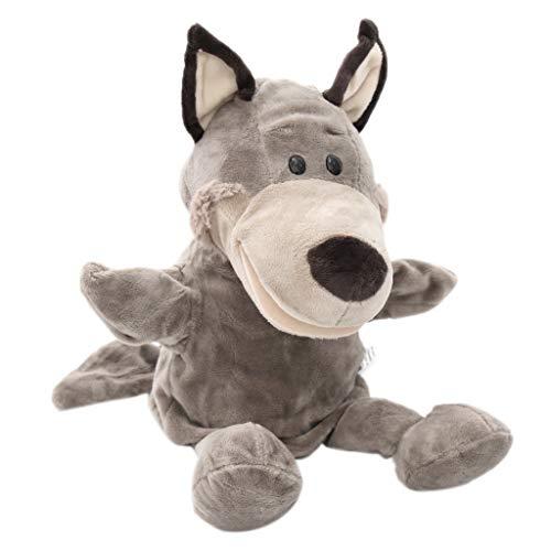 B Blesiya Marionetas de Mano Títeres de Animales Zoológicos Suave Juego de Pretender para Niños Niñas - Lobo