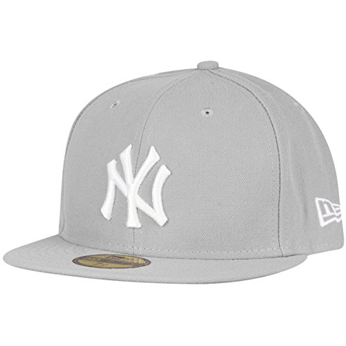 New Era New York Yankees Cap - MLB Basic - Grey/White Größentabelle: 7 1/2-60cm (XL)