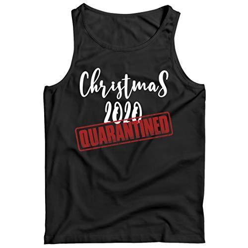 lepni.me Camisetas de Tirantes para Hombre La Navidad del 2020 se puso en Cuarentena Junto con el Equipo de Emparejamiento de la Familia de Vacaciones (XX-Large Negro Multicolor)