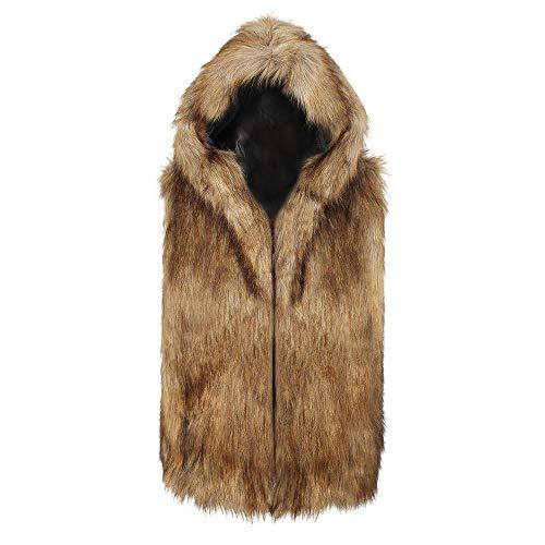Herfst Winter Jas Heren Faux Vest Jas Wol Jas Hooded Modieuze Completi Vest Gilet Trachten Vest