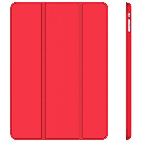 JETech Hülle Kompatibel iPad Mini 1 2 3, Schutzhülle mit Ständer Funktion & Auto Einschlafen/Aufwachen (Rot)