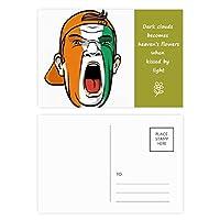 coateコートジボワールの顔の化粧キャップ 詩のポストカードセットサンクスカード郵送側20個