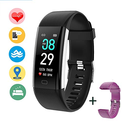 "Fitness Tracker Pulsera Inteligente, ANNA TOSANI IP68 Reloj Inteligente Deportivo 0.96""IPS Dinámica de Color Pantalla Smartwatch Monitor de Actividad Rastredor de Fitness para Mujer Hombre Niño Pulsera Podómetro"
