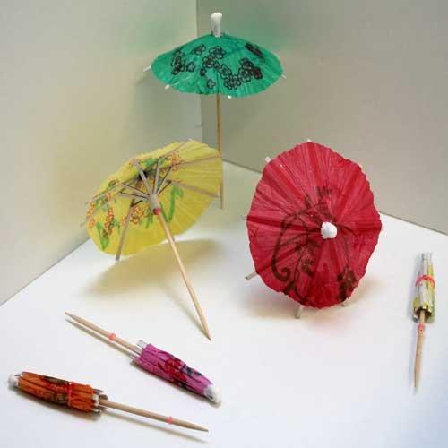 Land-Haus-Shop Cocktailschirmchen 24 Stück,Cocktail Party Papier Schirmchen Schirm Stäbchen (LHS)